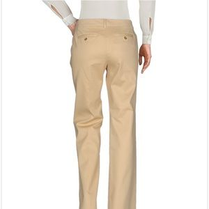 Tory Burch Straight Leg Khaki Trouser